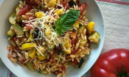 Orzo with Tomatoes and Zucchini