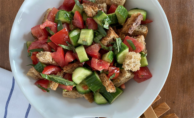 Summer Tomato-Basil-Bread Salad